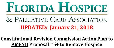 Constitutional Revision Commission Action Plan to AMEND Proposal #54 to Remove Hospice