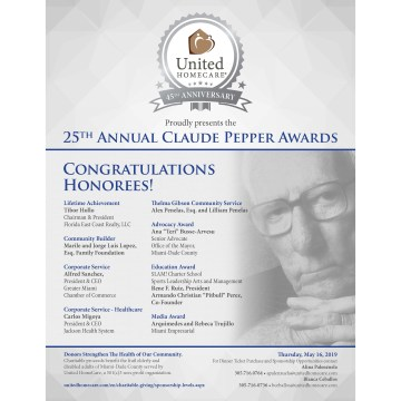 Charitable 25th Annual Claude Pepper Awards Dinner