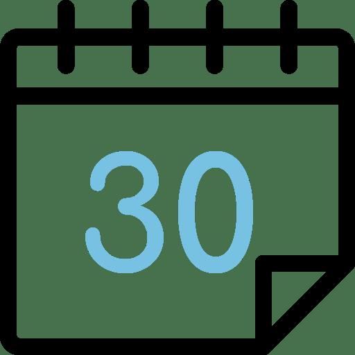 Calendario día 30