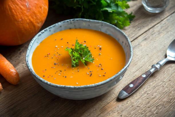 crema de zanahoria con cúrcuma