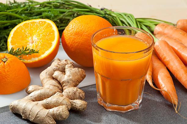 jengibre con zanahoria y naranja
