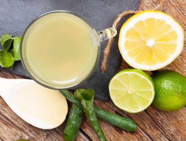 jugo de aloe vera y limón