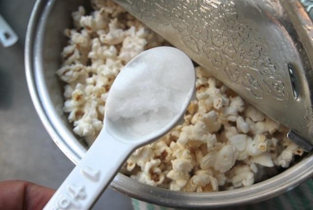 El uso en la fabricación de Popcorns