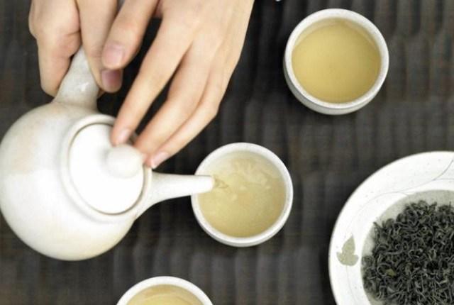 Té verde y vinagre de manzana