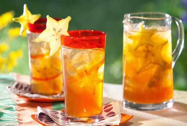 hibisco, carambola y naranja Agua