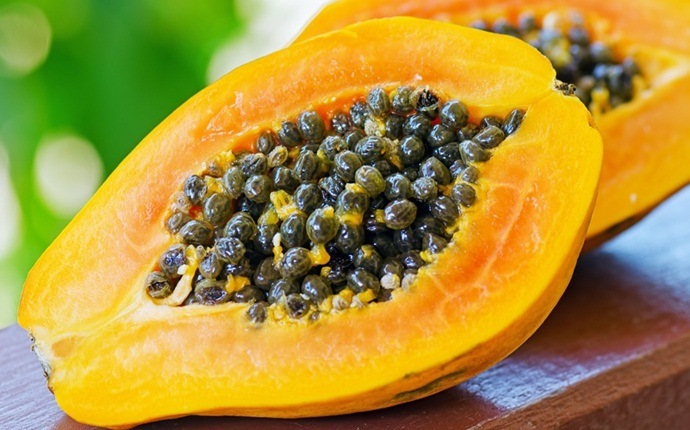 Combinación de jengibre, papaya y vinagre