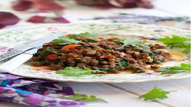 Verdes y tomates derretidos
