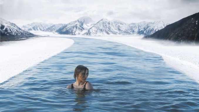 invierno, frío, hielo, temperatura baja