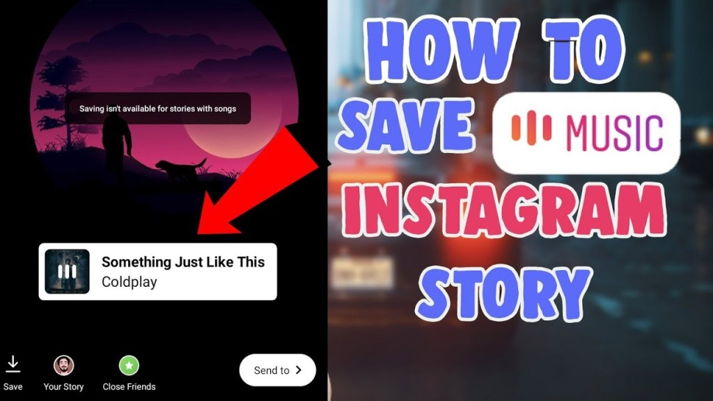 save instagram story with music