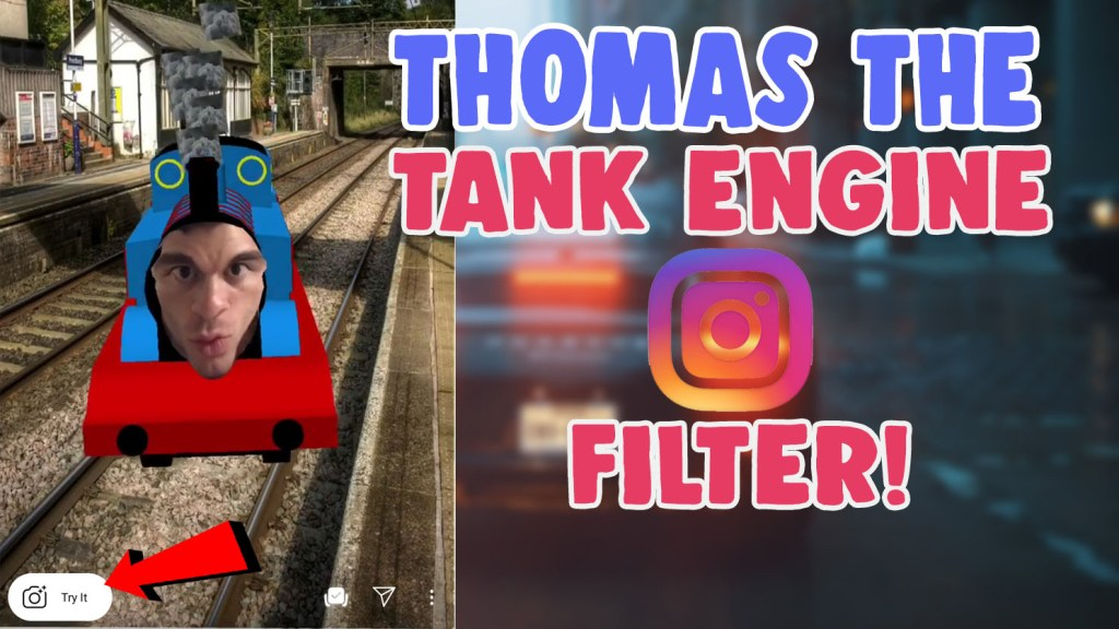 thomas the tank engine filter instagram snapchat