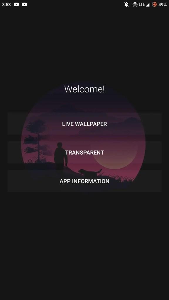 make wallpaper transparent
