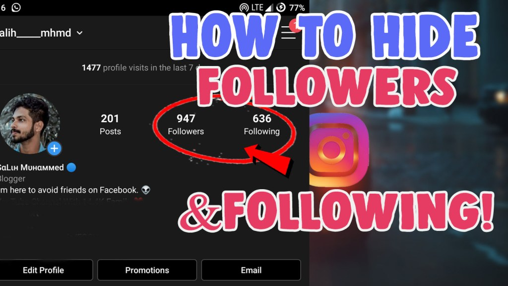 how to hide my followers and following list on instagram