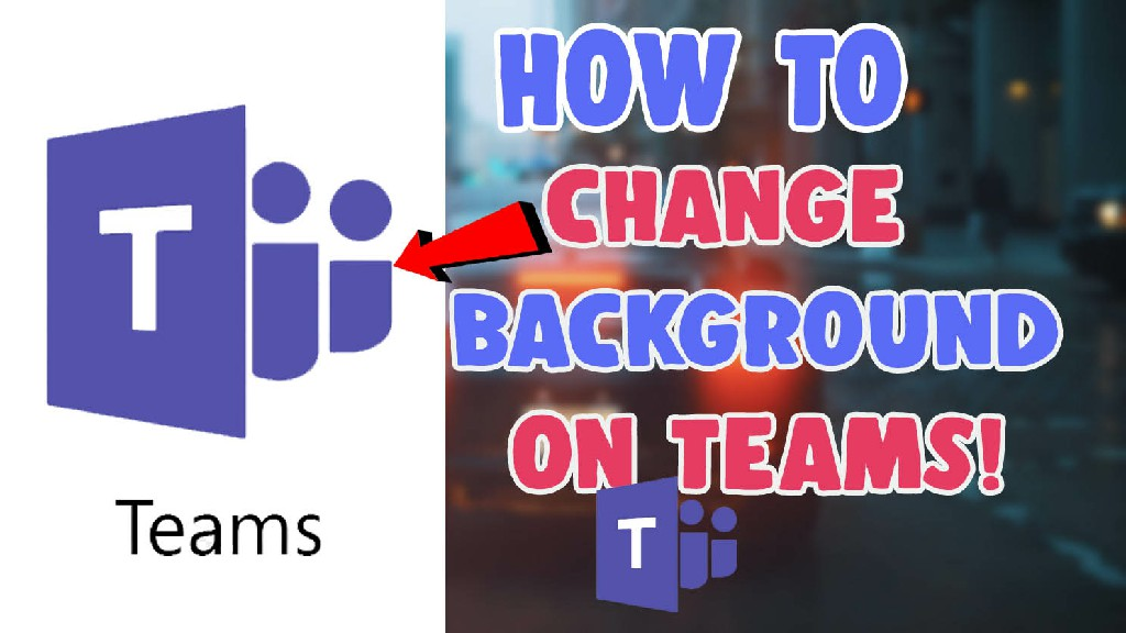 how to change background on teams