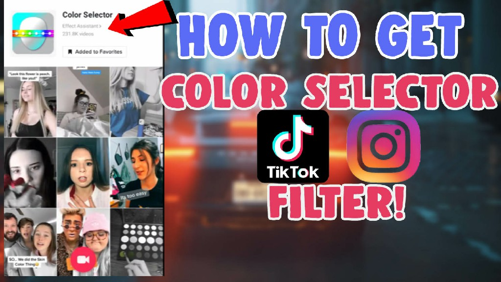 color selector filter tiktok
