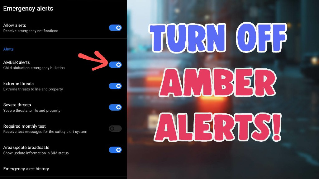 turn off emergency amber alerts android iphone