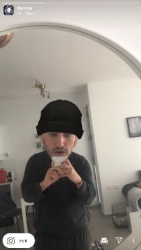 big head filter instagram