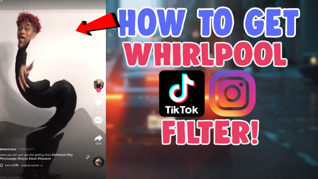 whirlpool filter effect pucker up tiktok instagram