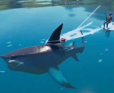 how to get ride a shark in fortnite
