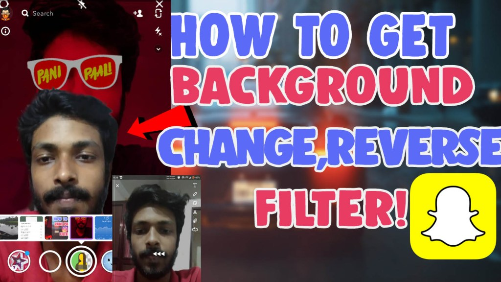 change background reverse filter snapchat