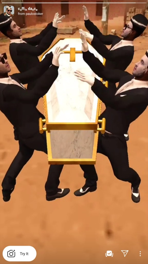 coffin dance app filter instagram