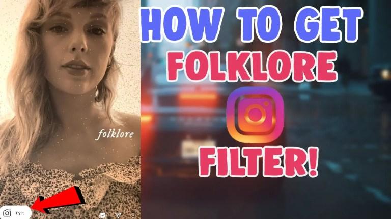 get folklore filter instagram