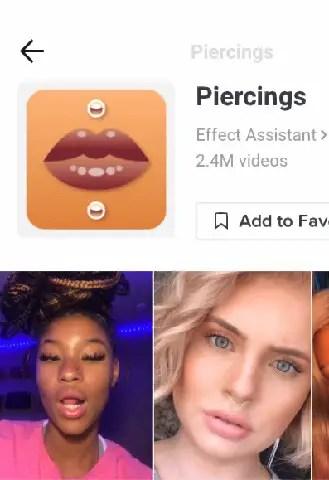 piercing filter on tiktok icon