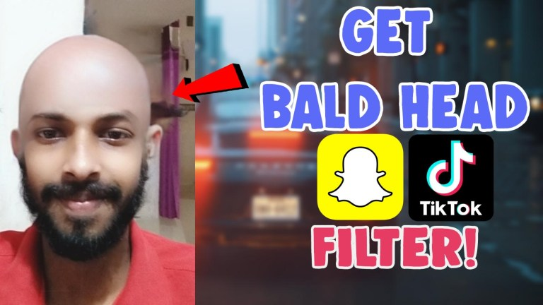 bald head filter effect snapchat tiktok shaved head instagram