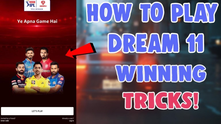 how to use and play dream 11 winning tricks