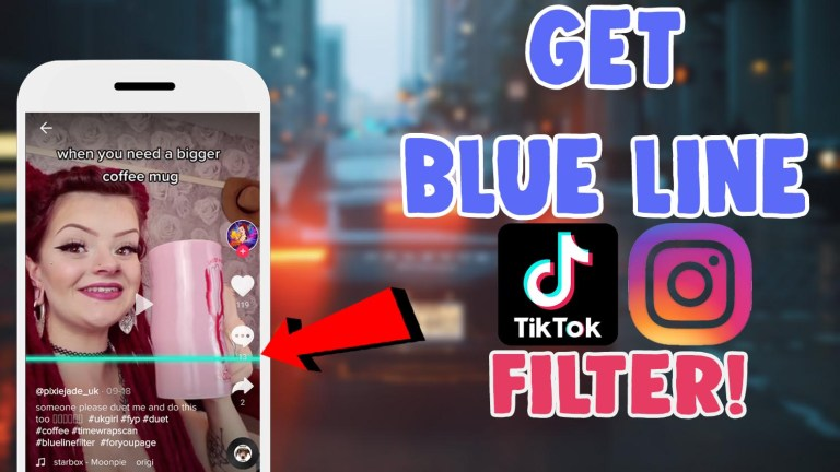 blue line filter effect tiktok instagram