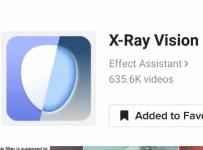 X ray Vision effect filter tiktok icon