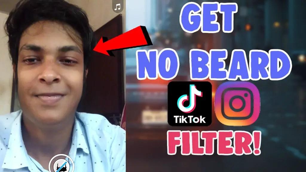 no beard Filter tiktok snapchat instagram