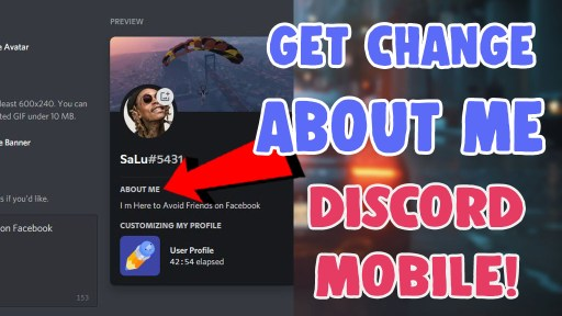 get change about me on discord mobile