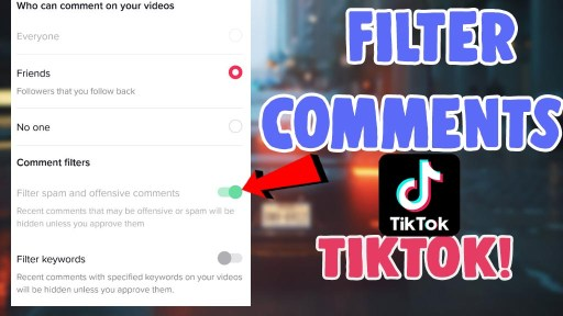 how to filter comments on tiktok ios android