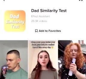 dad similarity test filter tiktok icon