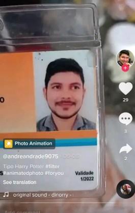 photo animation filter tiktok
