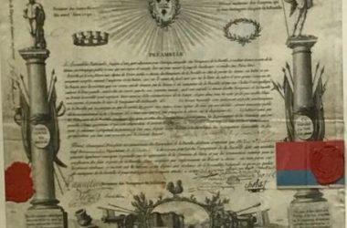 диплом участника взятия Бастилии