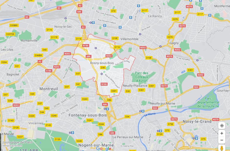 Французская полиция арестовала мужчину с ножом перед начальной школой в центре Рони-су-Буа.