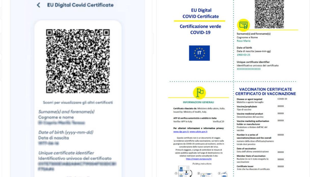 Green pass europeo: in alcuni paesi quello italiano non viene riconosciuto, in altri i criteri di validità cambiano - Salute Digitale