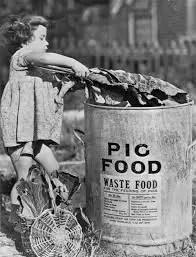 Pig food swill bin © IWM 1943