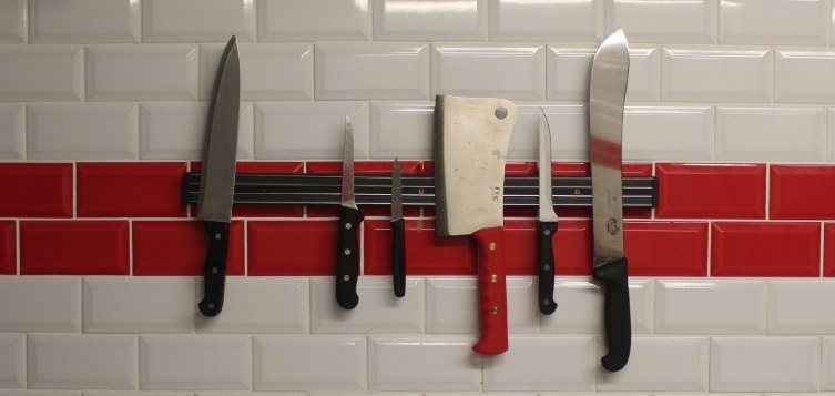 Knives on a wall