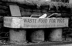 Street bins for collecting food waste for pigs. Photo © Bruce Castle Museum
