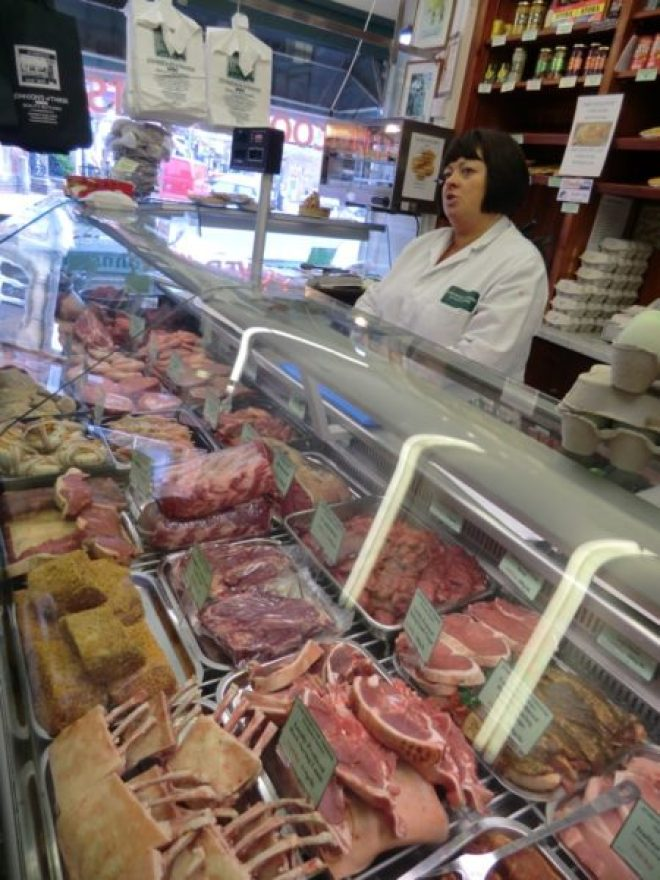 Inside Johnson butchers