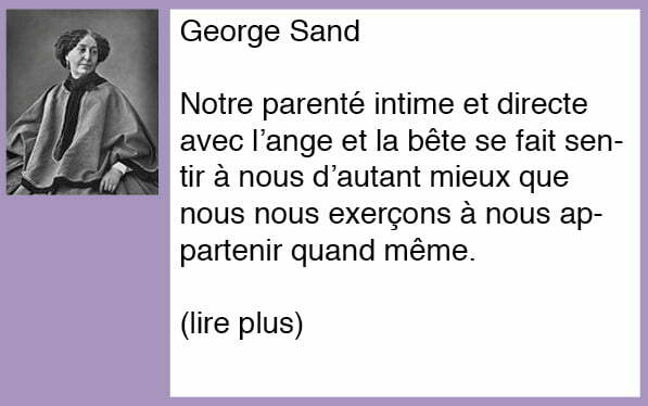 La citation du mardi – George Sand