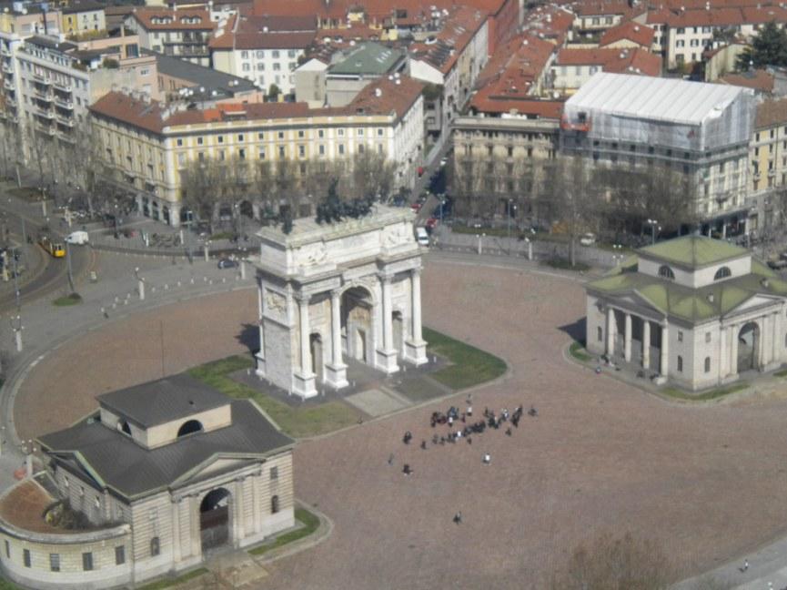 Uitzicht op de Arco della Pace