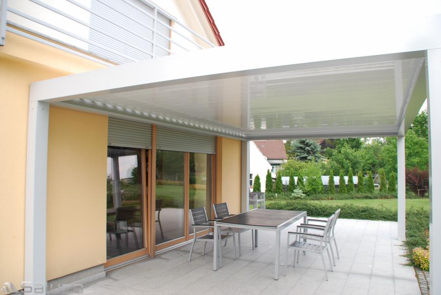 Ekskluzywna pergola bioclimatic aluminiowa piora oraz konstrukcja biala, gogolin - saluza.eu