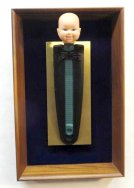 Mounted Bald Baby~Found Objects~8X2X13