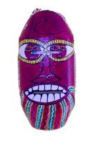 Ogidi Mask_Found Metal_Paint_5X3X10
