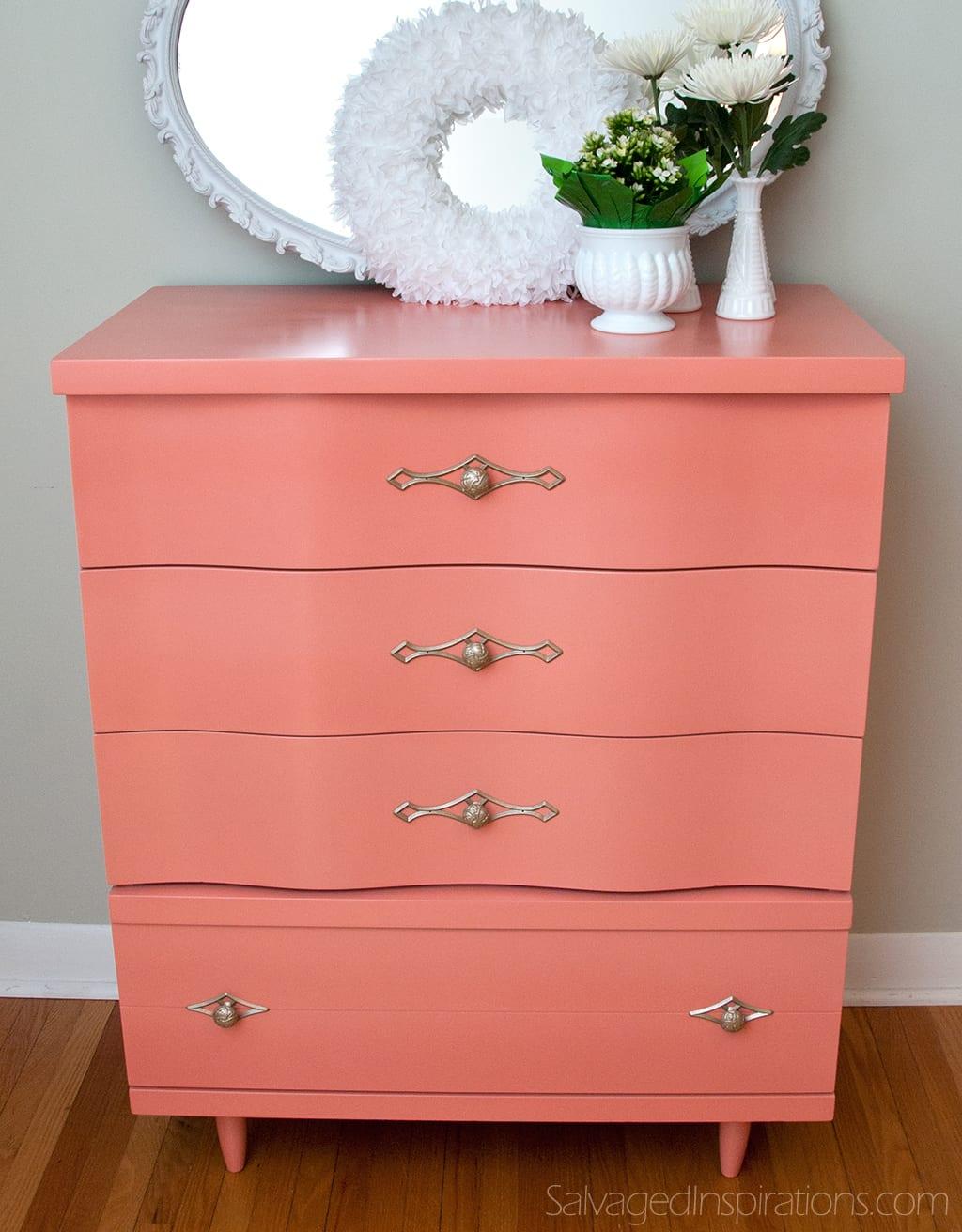 Getting Braver Curvy Coral Dresser Salvaged Inspirations