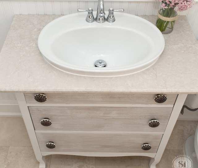Furniture Stripping Refreshed Bathroom Vanity Makeover