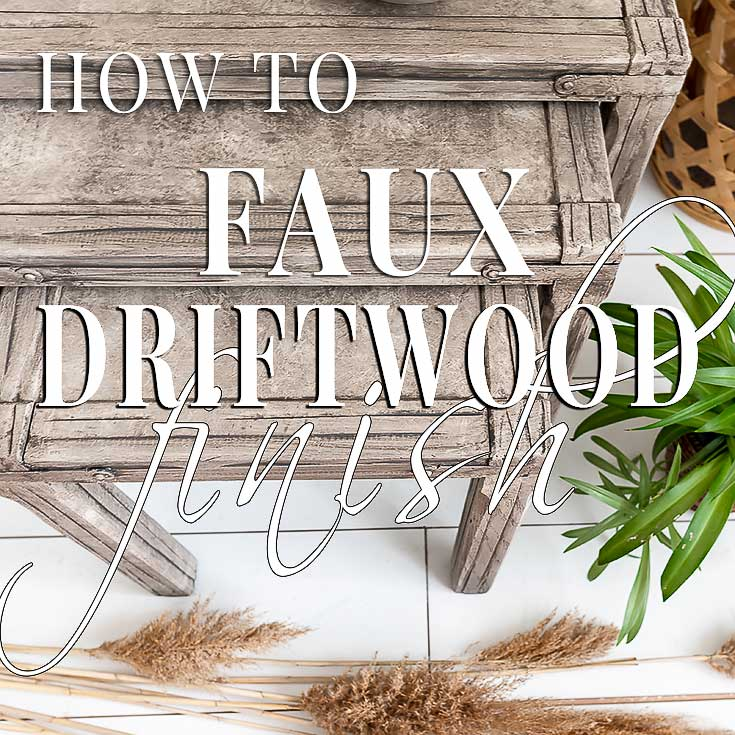 faux driftwood finish nesting tables salvaged inspirations